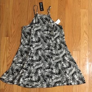 Charlotte Russe Black & White Tropical Dress
